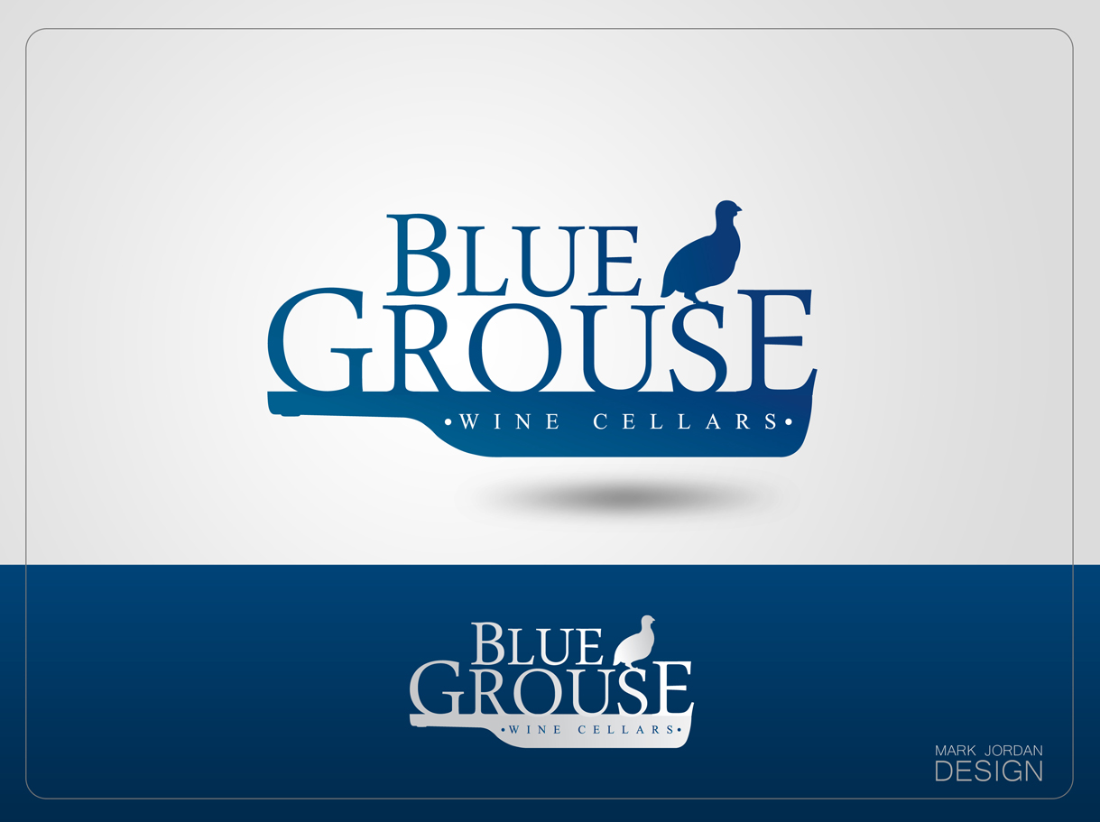 Logo Design by Mark Anthony Moreto Jordan - Entry No. 80 in the Logo Design Contest Creative Logo Design for Blue Grouse Wine Cellars.