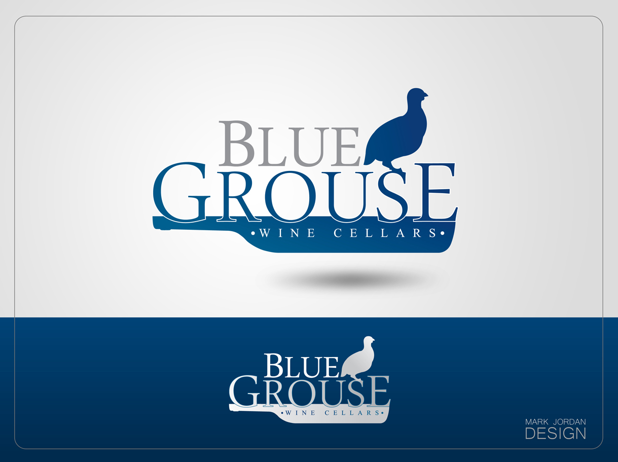 Logo Design by Mark Anthony Moreto Jordan - Entry No. 81 in the Logo Design Contest Creative Logo Design for Blue Grouse Wine Cellars.