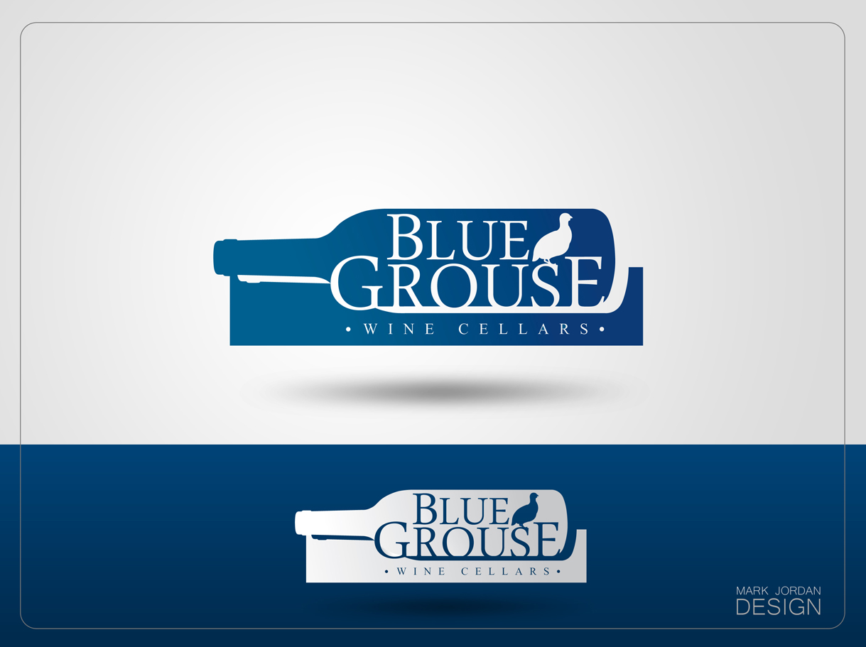 Logo Design by Mark Anthony Moreto Jordan - Entry No. 82 in the Logo Design Contest Creative Logo Design for Blue Grouse Wine Cellars.