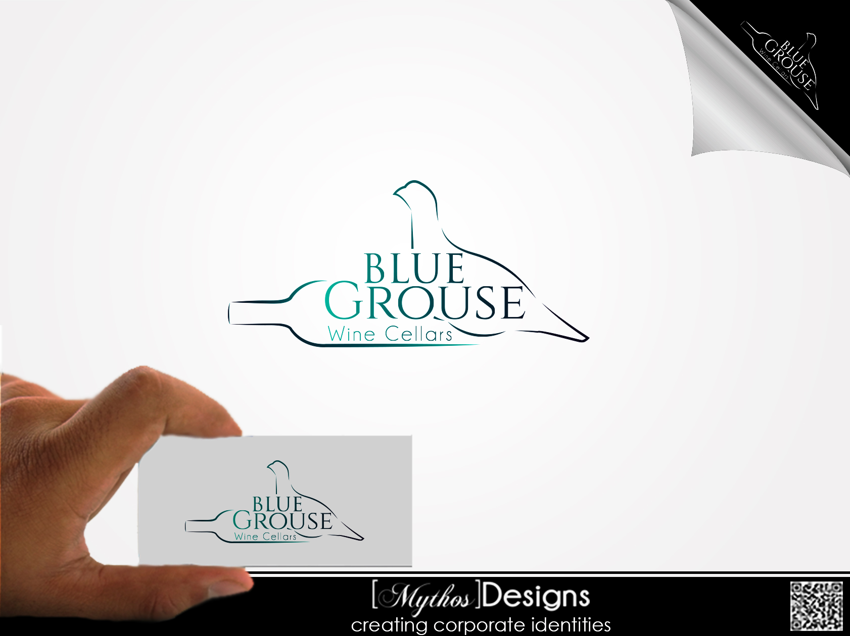 Logo Design by Mythos Designs - Entry No. 84 in the Logo Design Contest Creative Logo Design for Blue Grouse Wine Cellars.