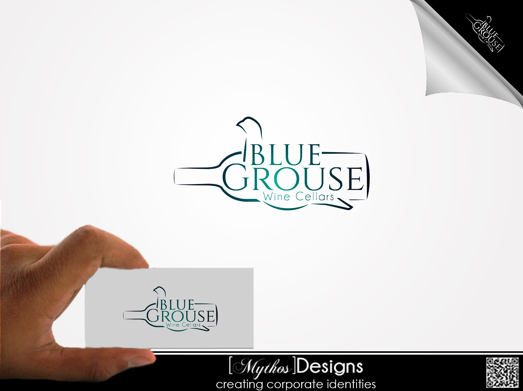 Logo Design by Mythos Designs - Entry No. 85 in the Logo Design Contest Creative Logo Design for Blue Grouse Wine Cellars.