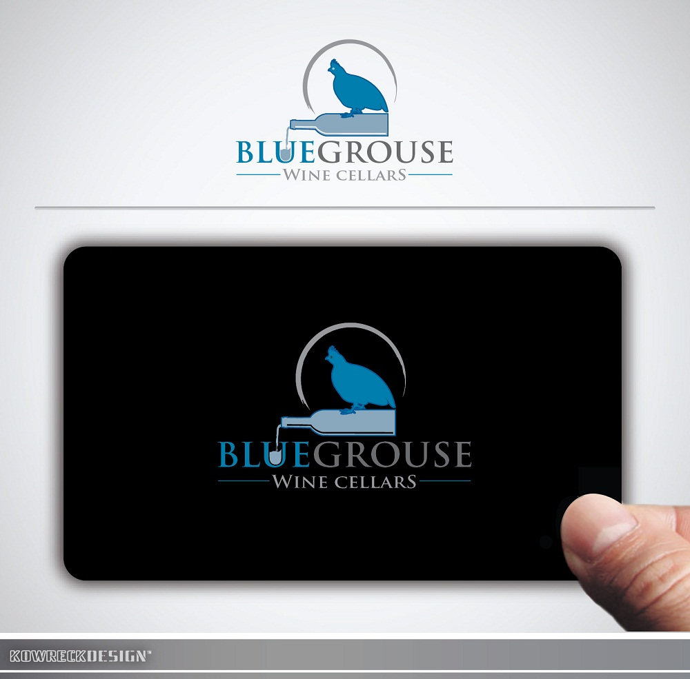 Logo Design by kowreck - Entry No. 88 in the Logo Design Contest Creative Logo Design for Blue Grouse Wine Cellars.