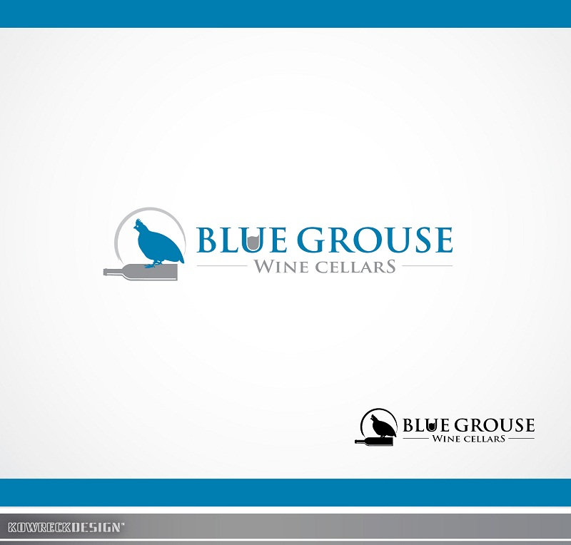 Logo Design by kowreck - Entry No. 90 in the Logo Design Contest Creative Logo Design for Blue Grouse Wine Cellars.