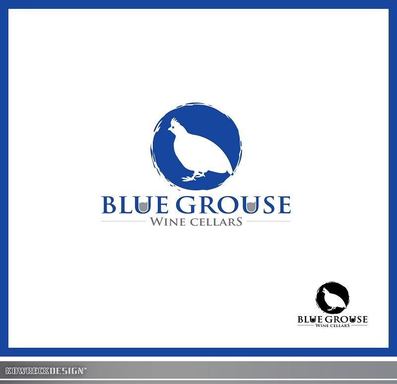 Logo Design by kowreck - Entry No. 91 in the Logo Design Contest Creative Logo Design for Blue Grouse Wine Cellars.