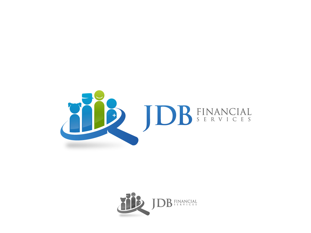 Logo Design by jpbituin - Entry No. 115 in the Logo Design Contest Unique Logo Design Wanted for JDB Financial Services.