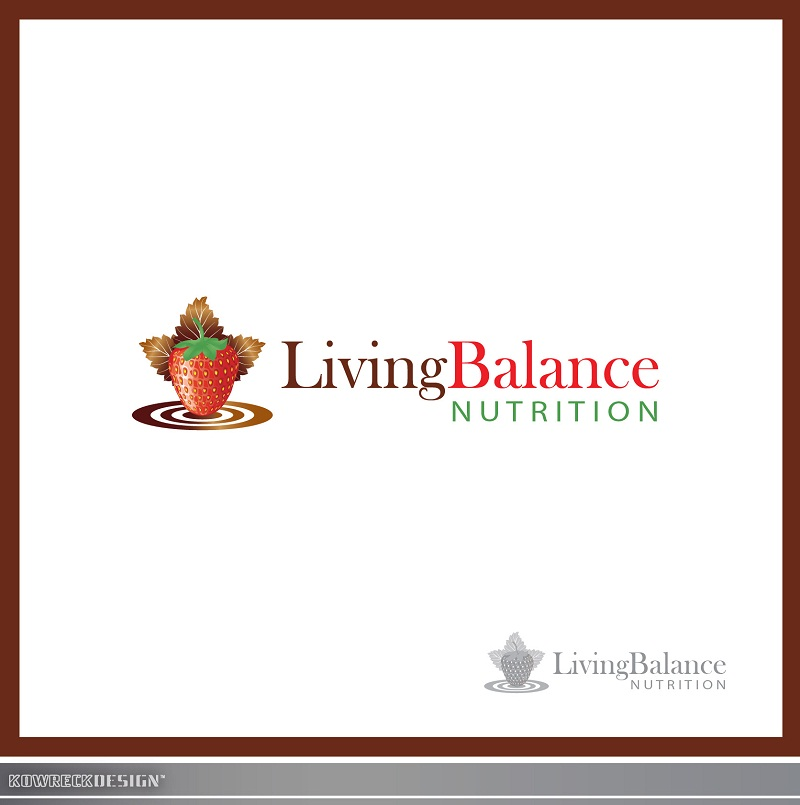 Logo Design by kowreck - Entry No. 56 in the Logo Design Contest Unique Logo Design Wanted for Living Balance Nutrition.