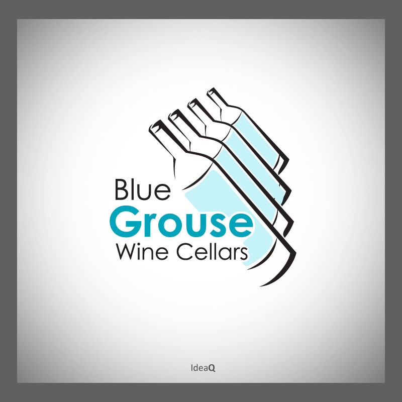 Logo Design by Private User - Entry No. 94 in the Logo Design Contest Creative Logo Design for Blue Grouse Wine Cellars.