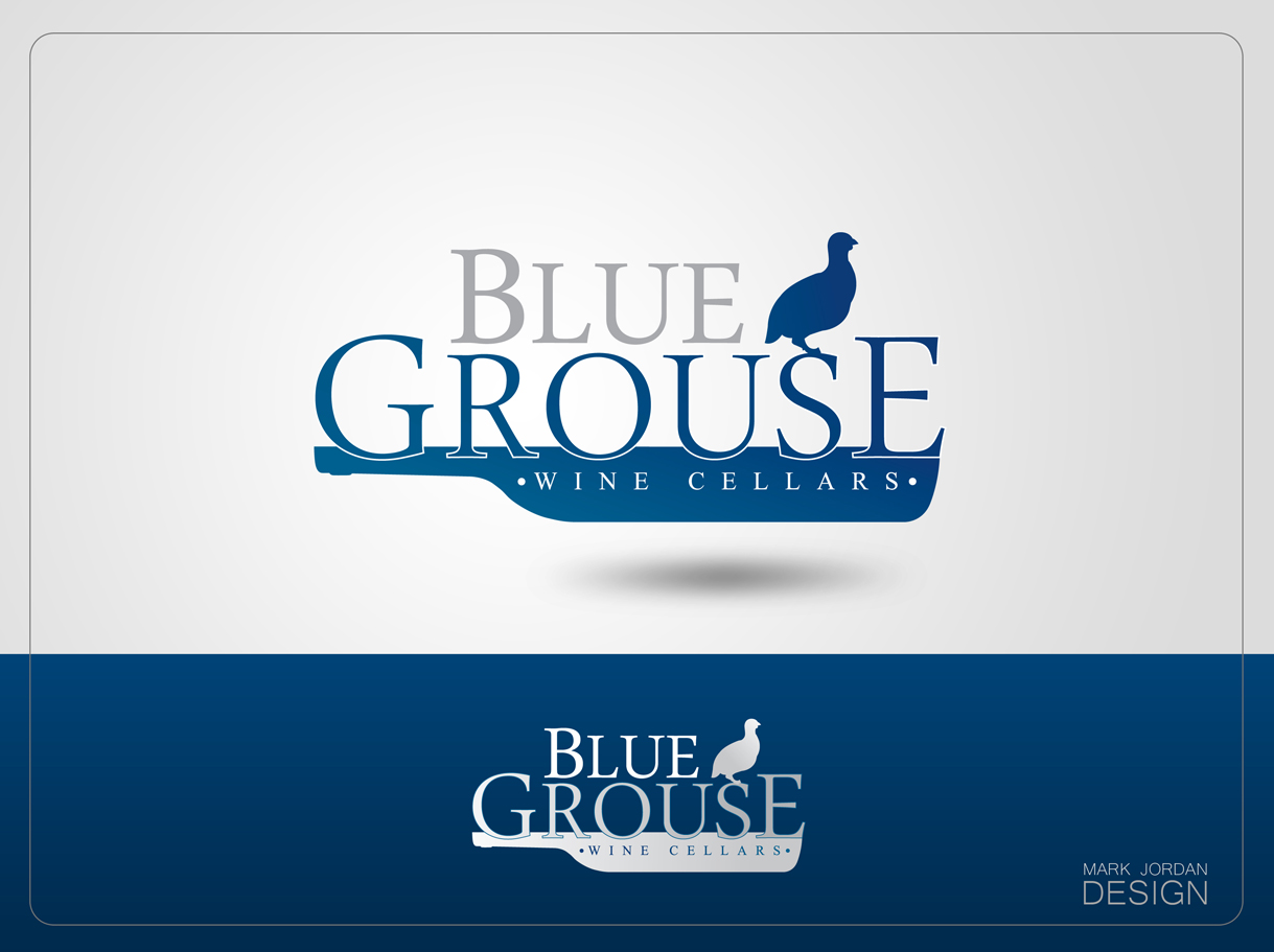 Logo Design by Mark Anthony Moreto Jordan - Entry No. 98 in the Logo Design Contest Creative Logo Design for Blue Grouse Wine Cellars.