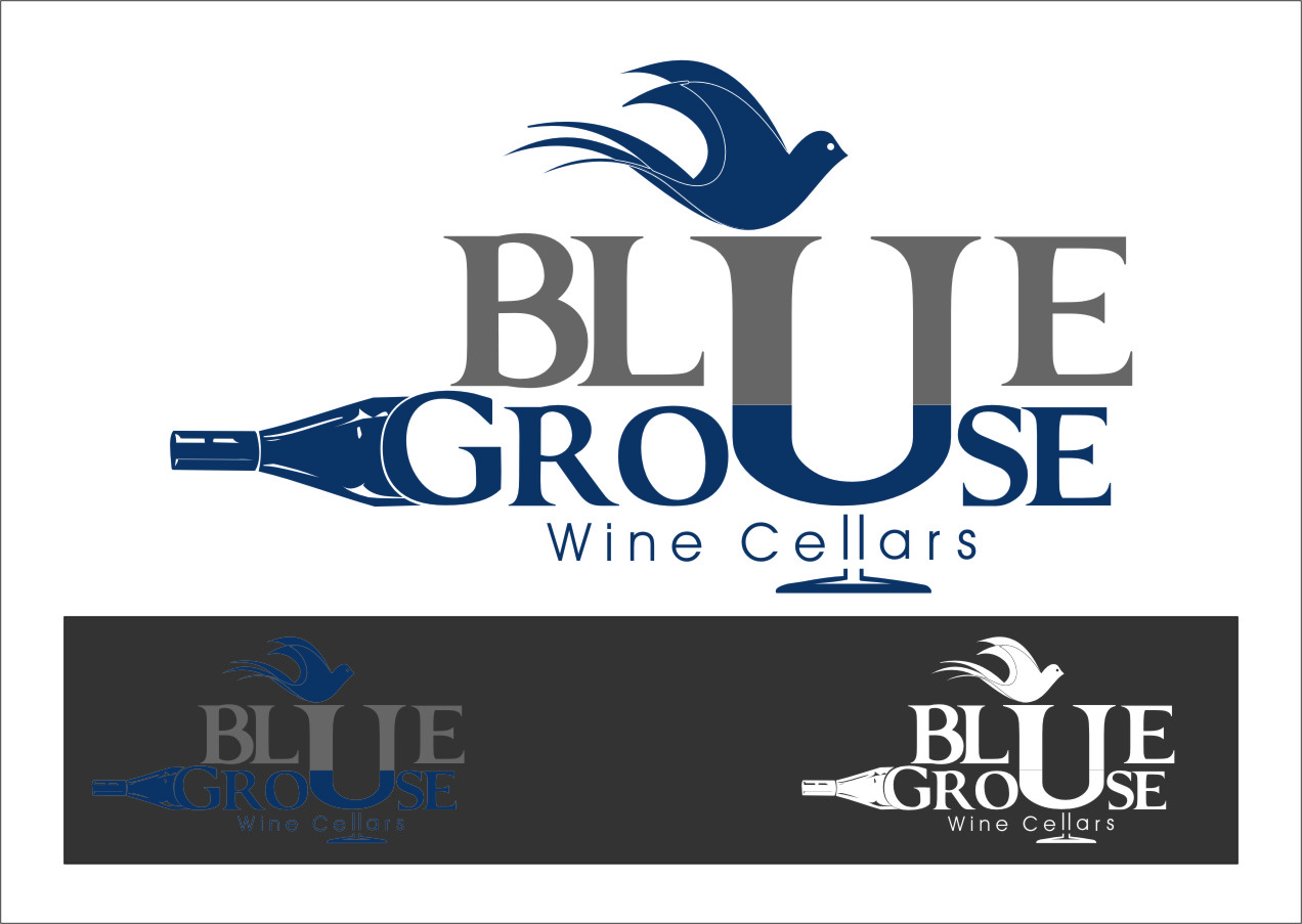 Logo Design by RasYa Muhammad Athaya - Entry No. 101 in the Logo Design Contest Creative Logo Design for Blue Grouse Wine Cellars.