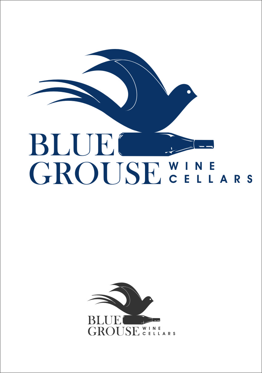 Logo Design by Ngepet_art - Entry No. 104 in the Logo Design Contest Creative Logo Design for Blue Grouse Wine Cellars.