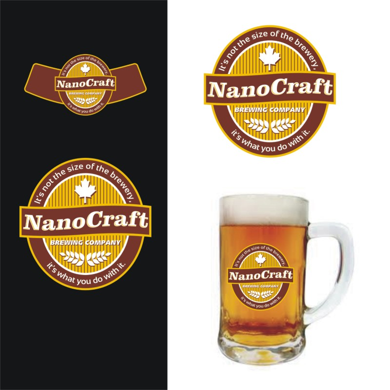 Logo Design by Private User - Entry No. 45 in the Logo Design Contest Unique Logo Design Wanted for NanoCraft Brewing Company.