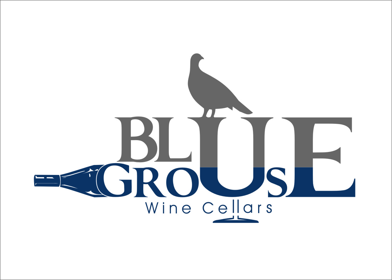 Logo Design by Ngepet_art - Entry No. 105 in the Logo Design Contest Creative Logo Design for Blue Grouse Wine Cellars.