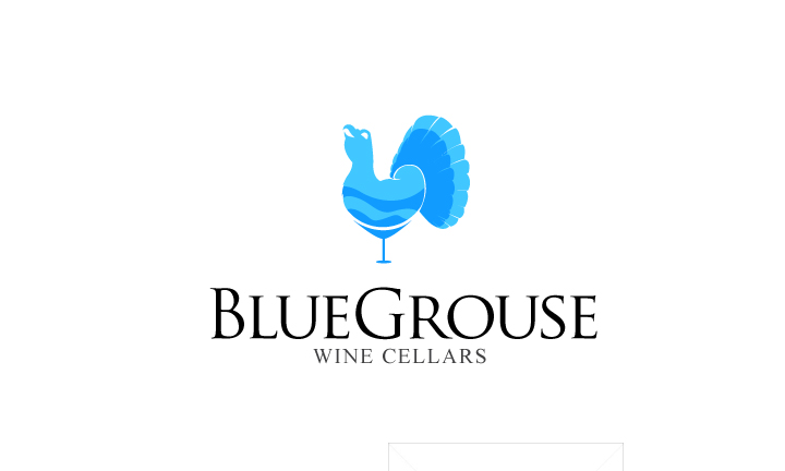 Logo Design by Top Elite - Entry No. 108 in the Logo Design Contest Creative Logo Design for Blue Grouse Wine Cellars.