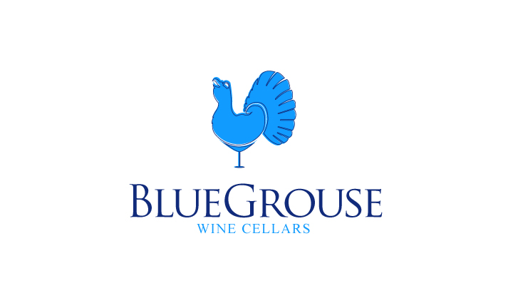 Logo Design by Top Elite - Entry No. 109 in the Logo Design Contest Creative Logo Design for Blue Grouse Wine Cellars.