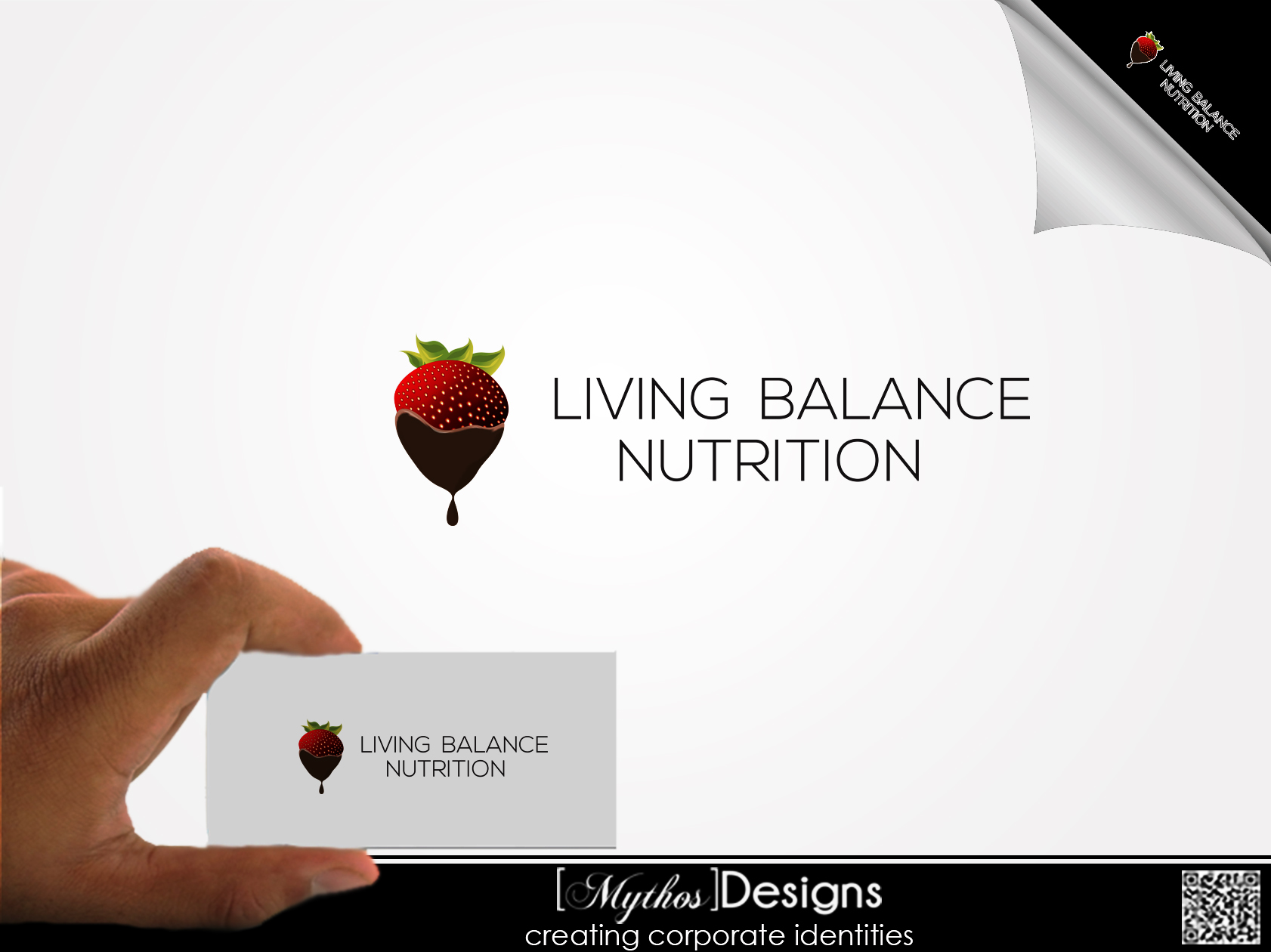 Logo Design by Mythos Designs - Entry No. 63 in the Logo Design Contest Unique Logo Design Wanted for Living Balance Nutrition.