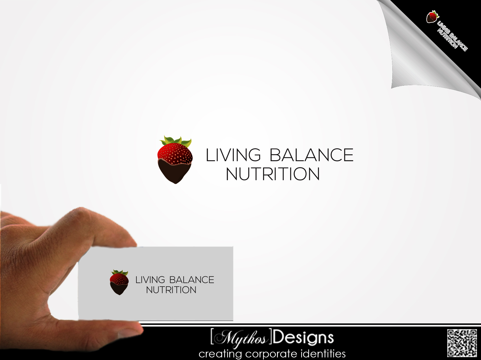 Logo Design by Mythos Designs - Entry No. 64 in the Logo Design Contest Unique Logo Design Wanted for Living Balance Nutrition.