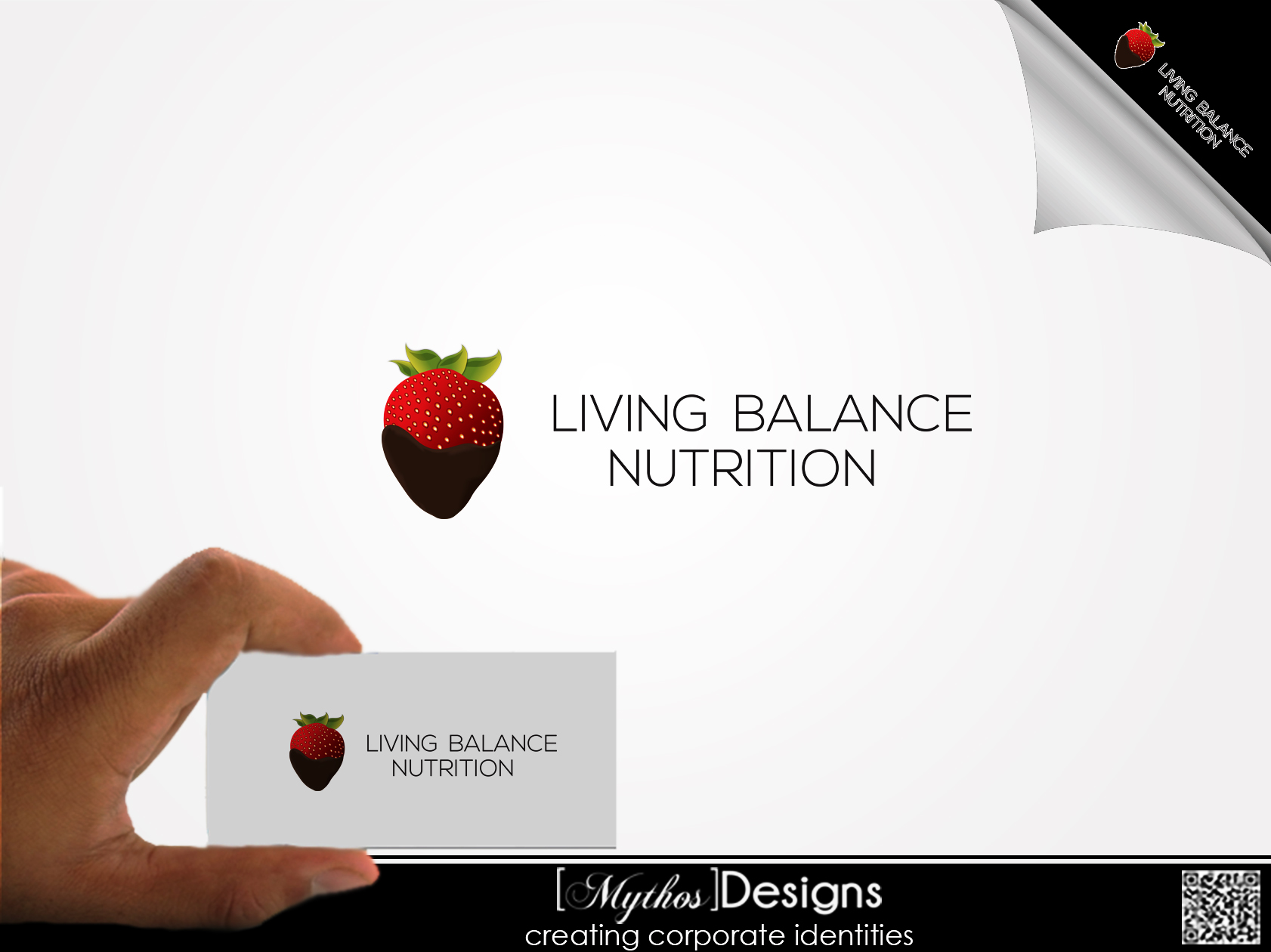 Logo Design by Mythos Designs - Entry No. 65 in the Logo Design Contest Unique Logo Design Wanted for Living Balance Nutrition.