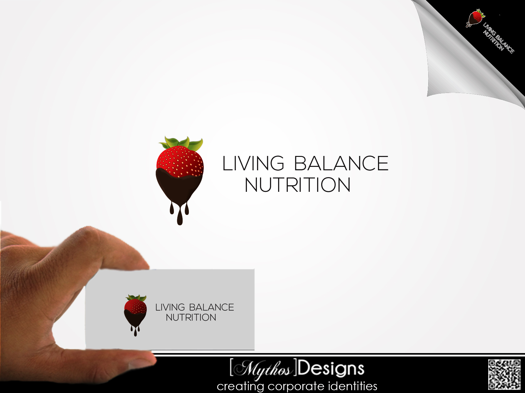 Logo Design by Mythos Designs - Entry No. 66 in the Logo Design Contest Unique Logo Design Wanted for Living Balance Nutrition.