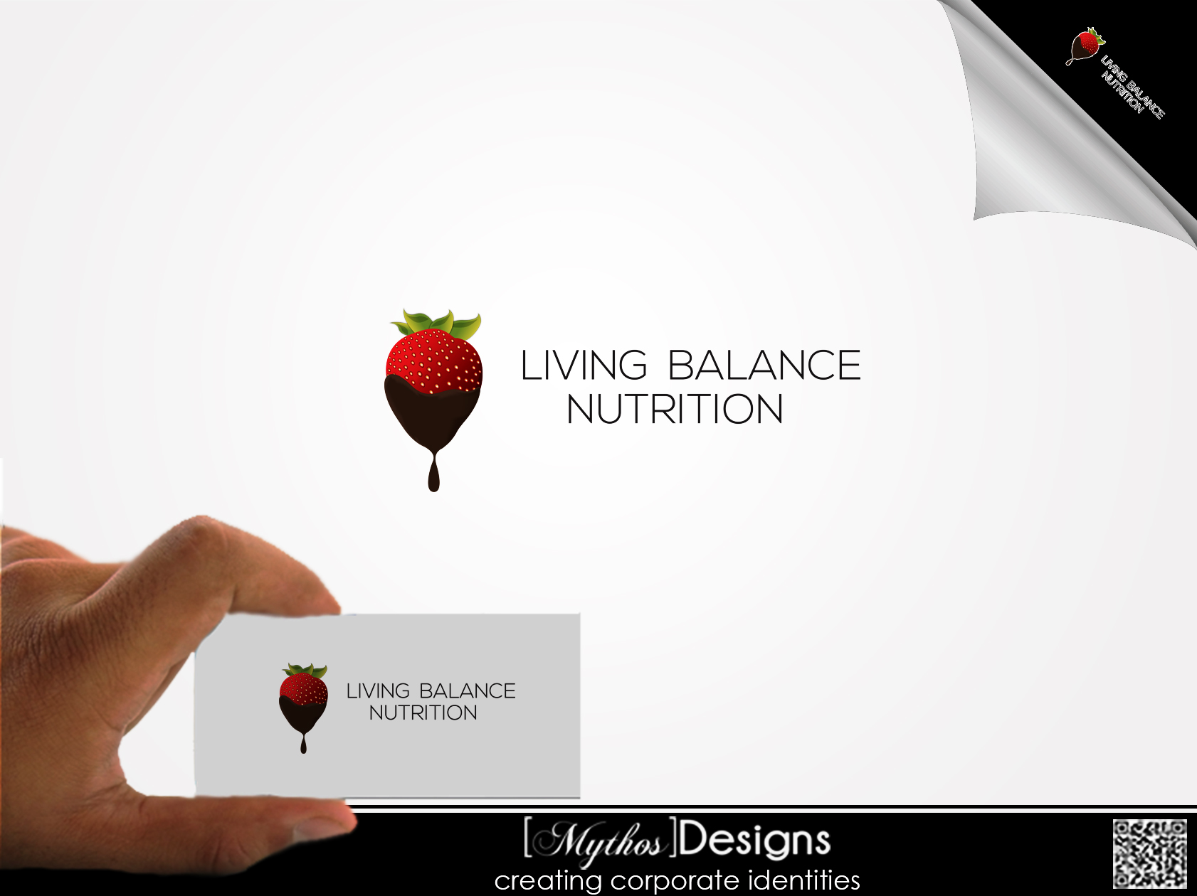 Logo Design by Mythos Designs - Entry No. 67 in the Logo Design Contest Unique Logo Design Wanted for Living Balance Nutrition.