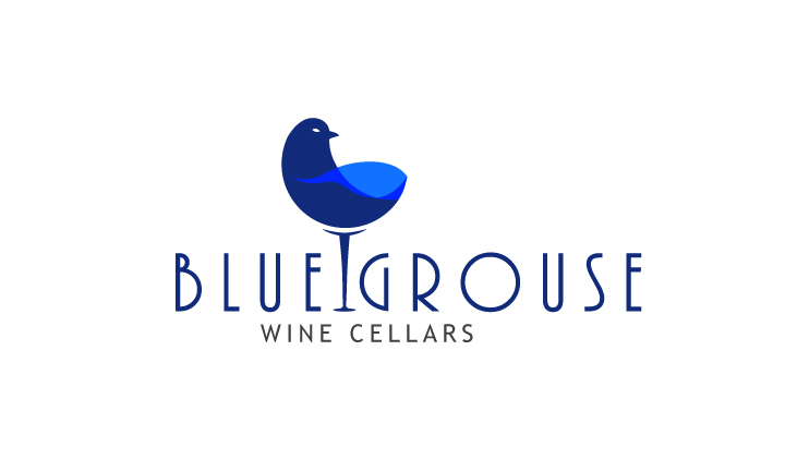 Logo Design by Top Elite - Entry No. 110 in the Logo Design Contest Creative Logo Design for Blue Grouse Wine Cellars.