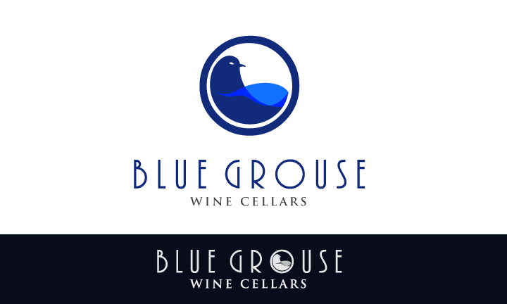 Logo Design by Top Elite - Entry No. 111 in the Logo Design Contest Creative Logo Design for Blue Grouse Wine Cellars.