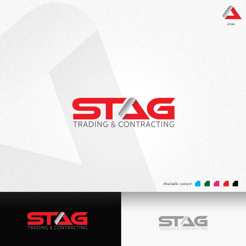 Logo Design by rockpinoy - Entry No. 30 in the Logo Design Contest Captivating Logo Design for STAG Trading & Contracting.