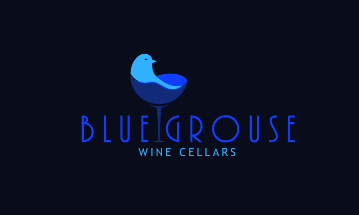 Logo Design by Top Elite - Entry No. 112 in the Logo Design Contest Creative Logo Design for Blue Grouse Wine Cellars.
