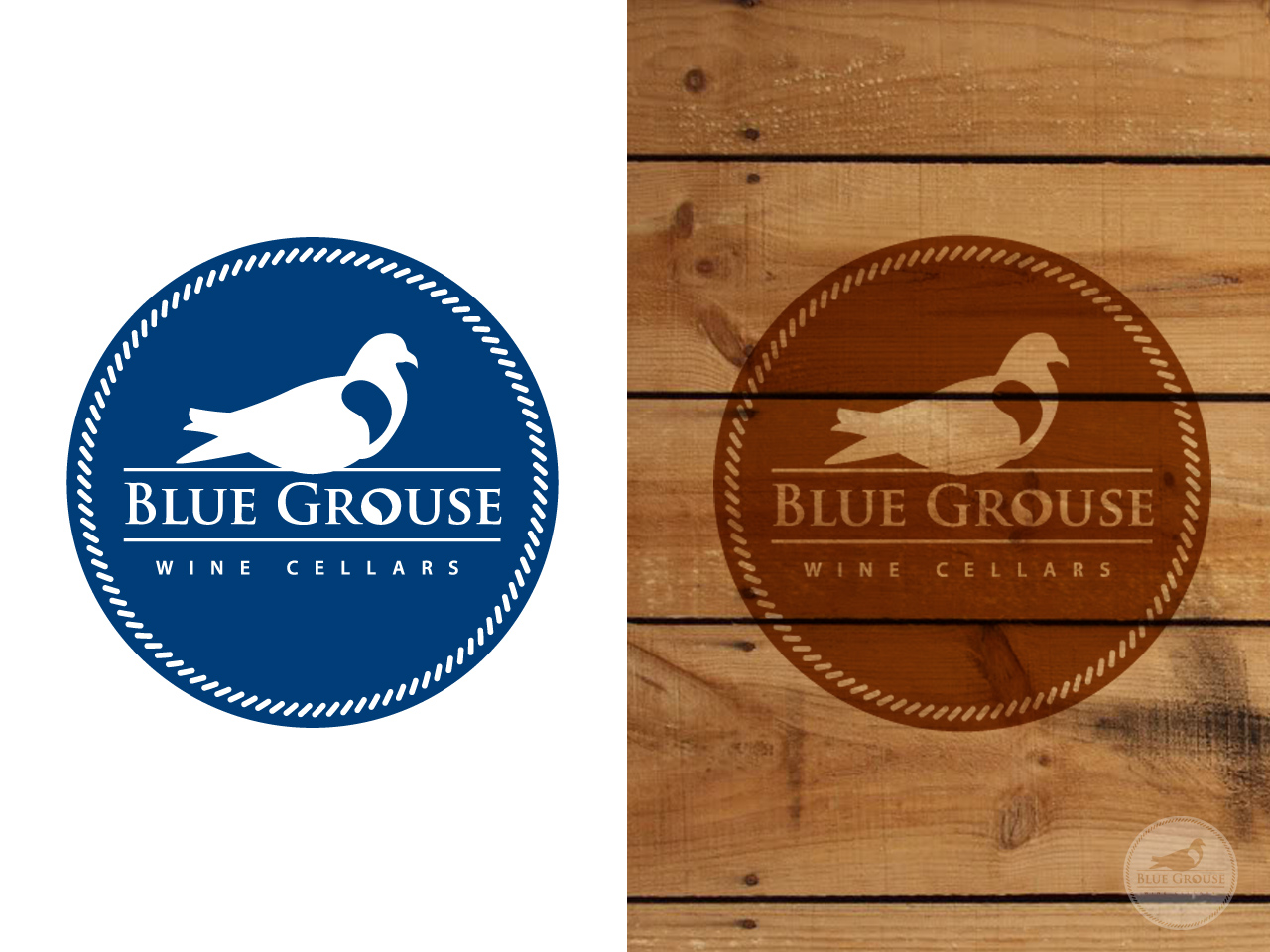 Logo Design by jpbituin - Entry No. 117 in the Logo Design Contest Creative Logo Design for Blue Grouse Wine Cellars.