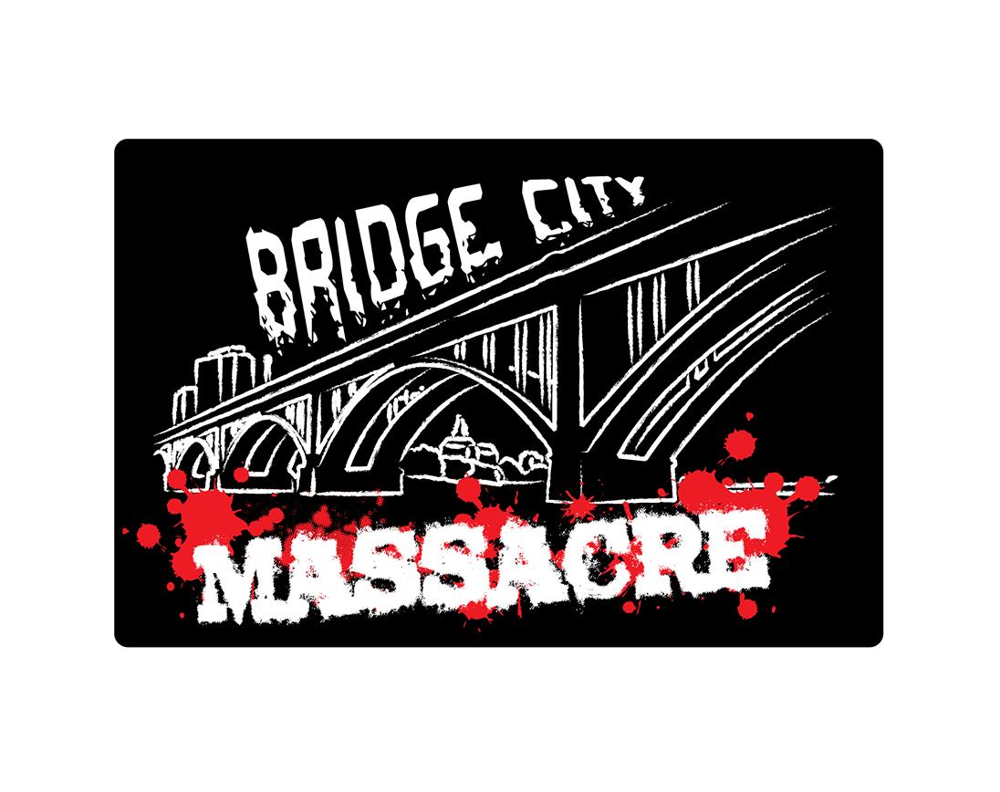 Logo Design by robken0174 - Entry No. 2 in the Logo Design Contest New Logo Design for Bridge City Massacre.