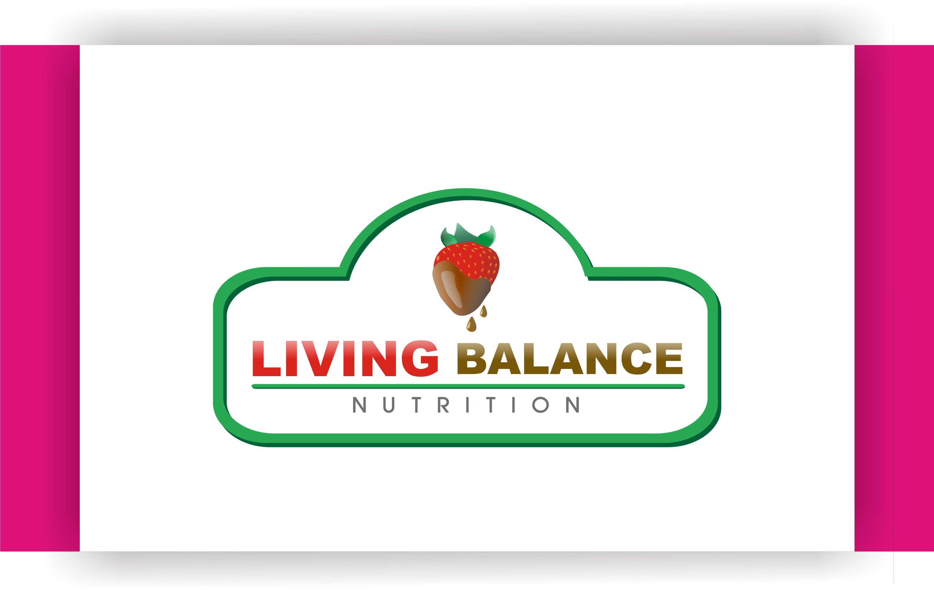 Logo Design by Shailender Kumar - Entry No. 75 in the Logo Design Contest Unique Logo Design Wanted for Living Balance Nutrition.