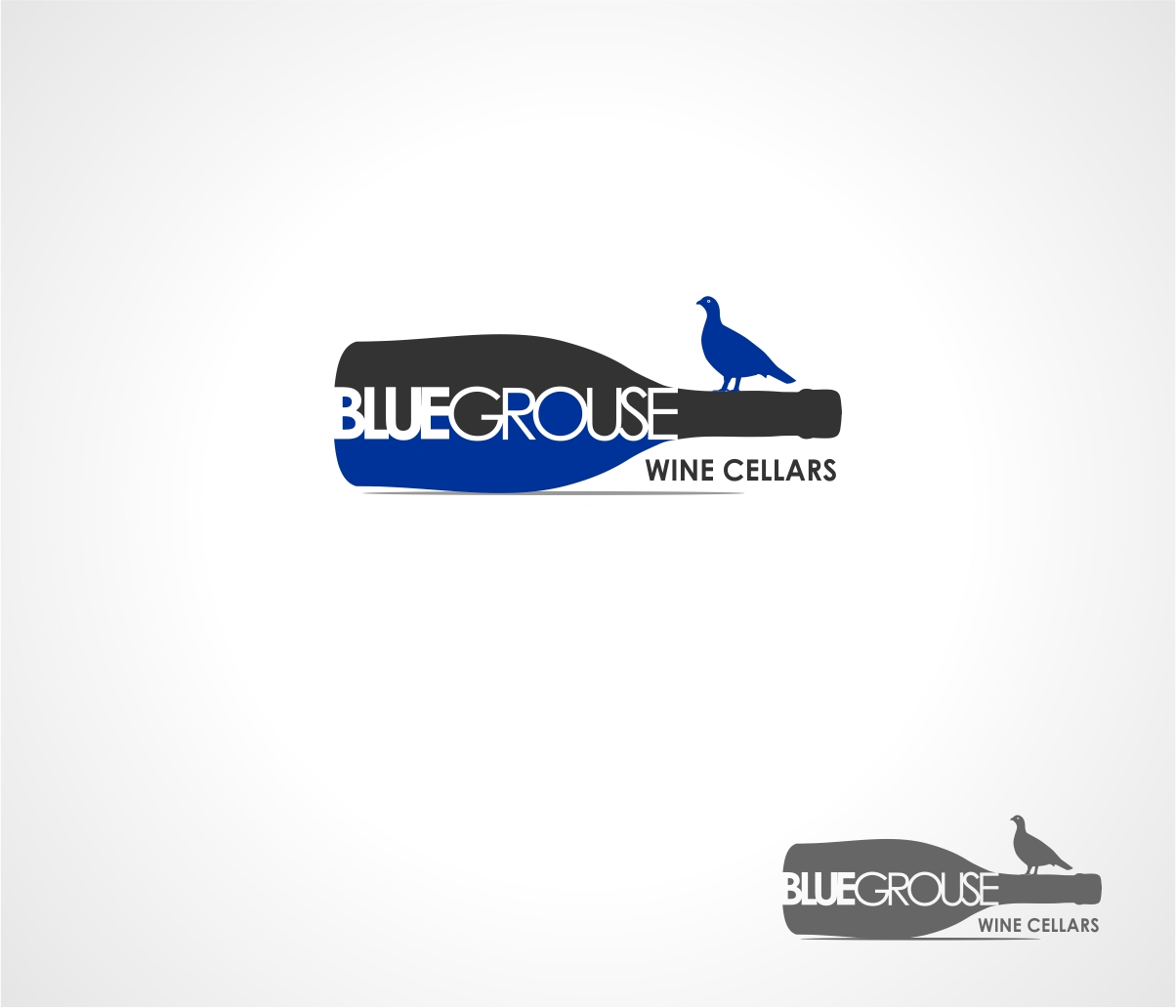 Logo Design by haidu - Entry No. 120 in the Logo Design Contest Creative Logo Design for Blue Grouse Wine Cellars.