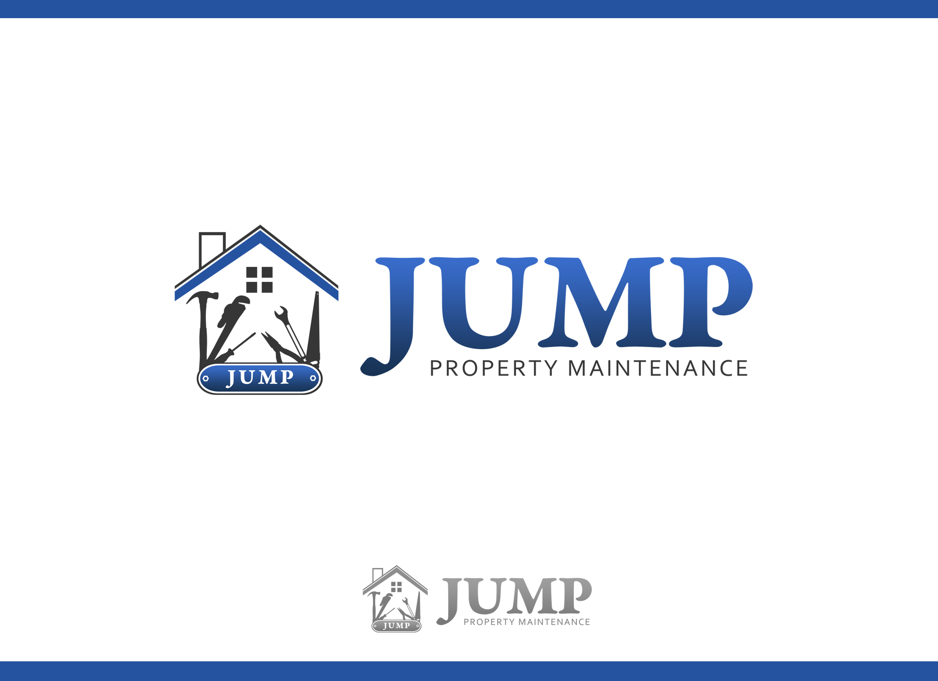 Logo Design by omARTist - Entry No. 4 in the Logo Design Contest Creative Logo Design for Jump Property Maintenance.