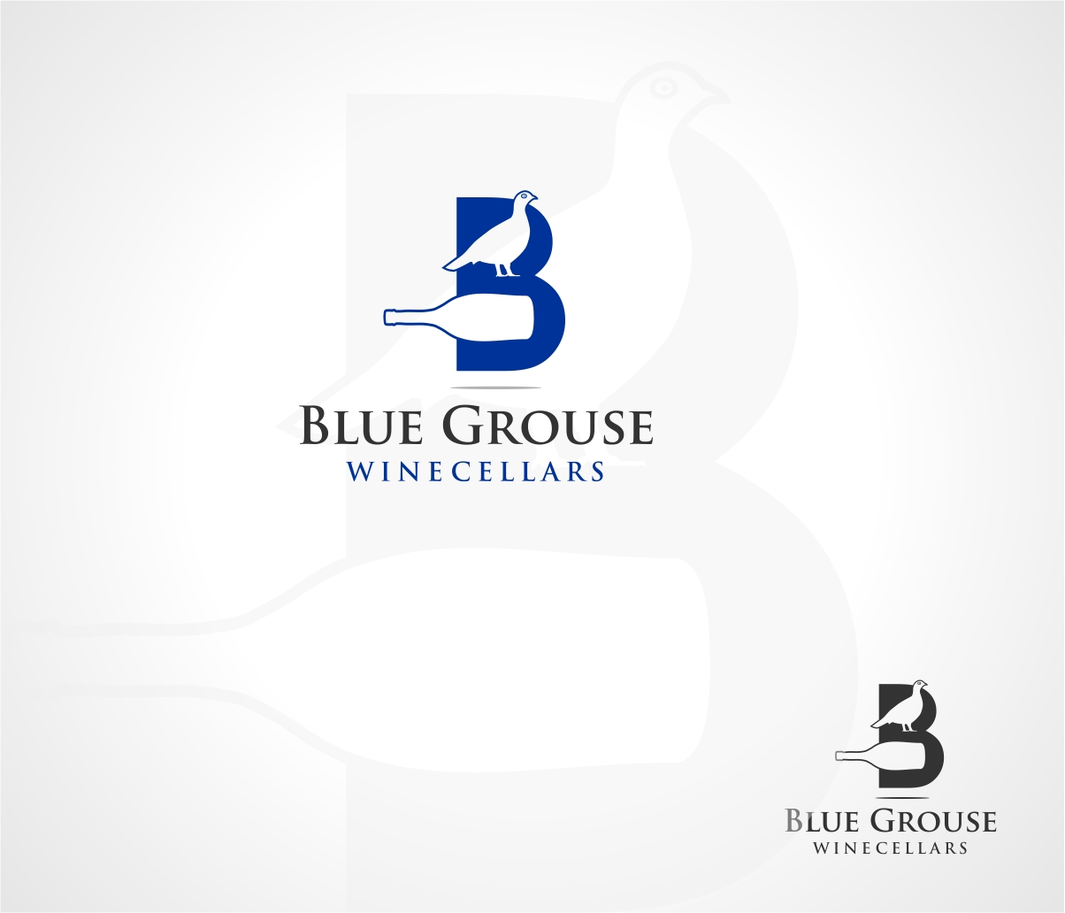 Logo Design by haidu - Entry No. 121 in the Logo Design Contest Creative Logo Design for Blue Grouse Wine Cellars.