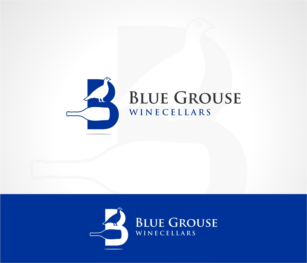 Logo Design by haidu - Entry No. 122 in the Logo Design Contest Creative Logo Design for Blue Grouse Wine Cellars.