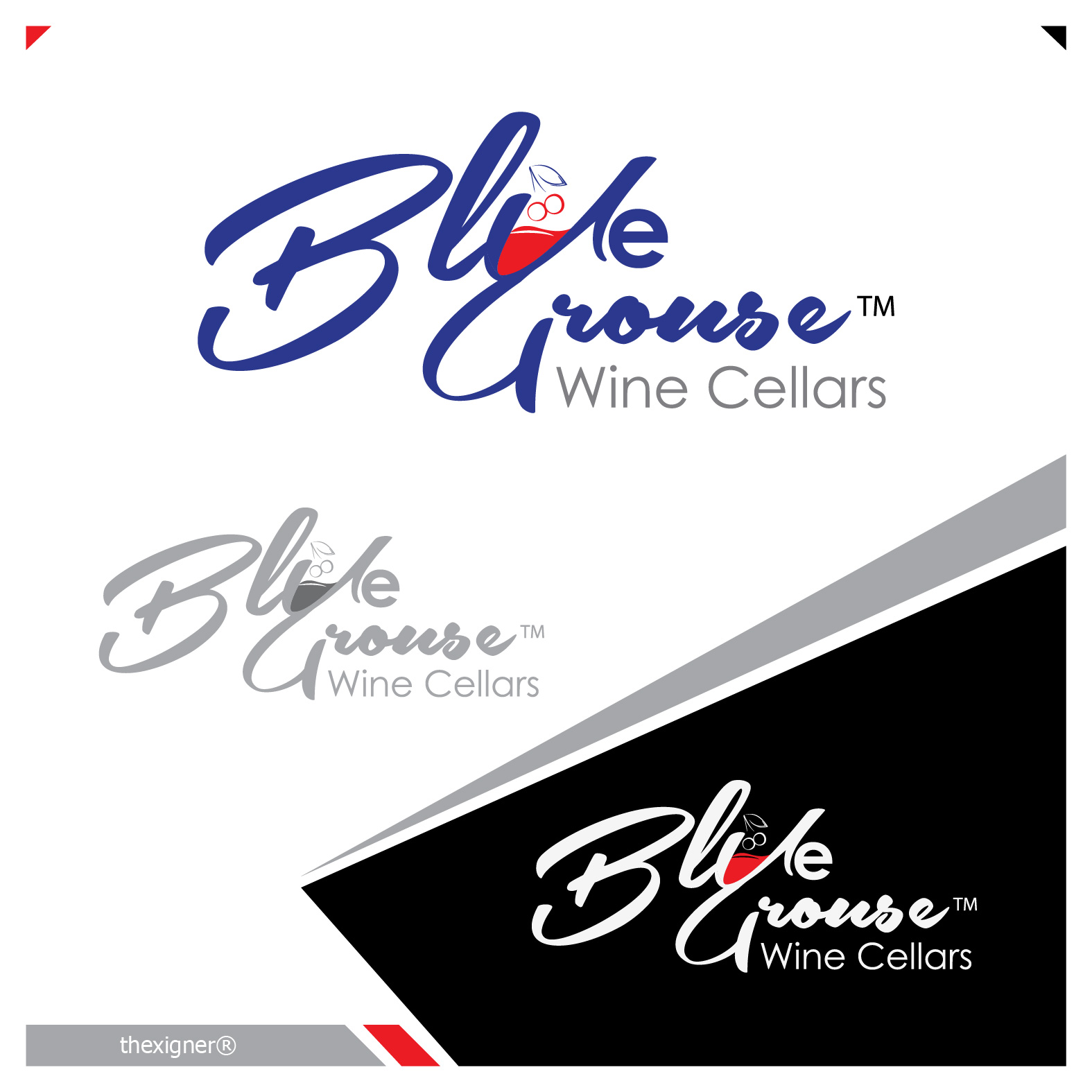 Logo Design by lagalag - Entry No. 123 in the Logo Design Contest Creative Logo Design for Blue Grouse Wine Cellars.