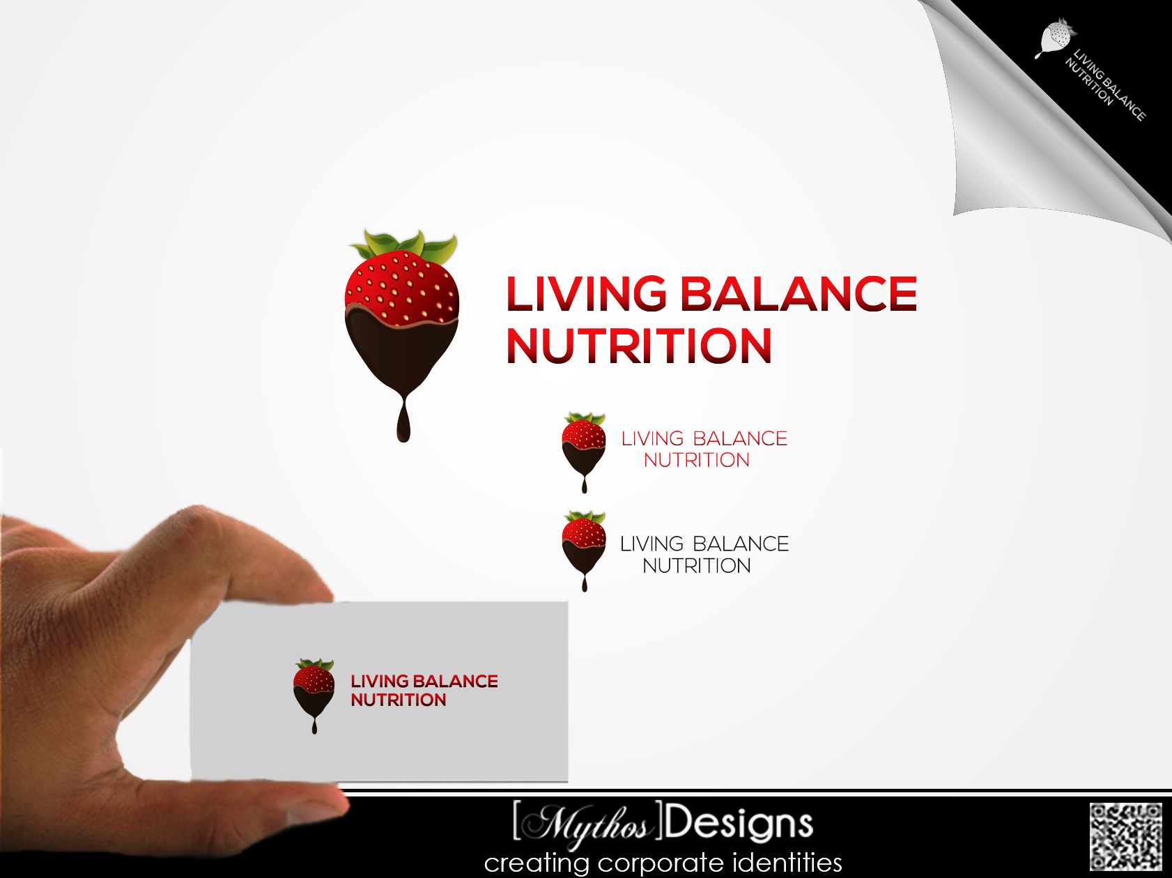 Logo Design by Mythos Designs - Entry No. 82 in the Logo Design Contest Unique Logo Design Wanted for Living Balance Nutrition.
