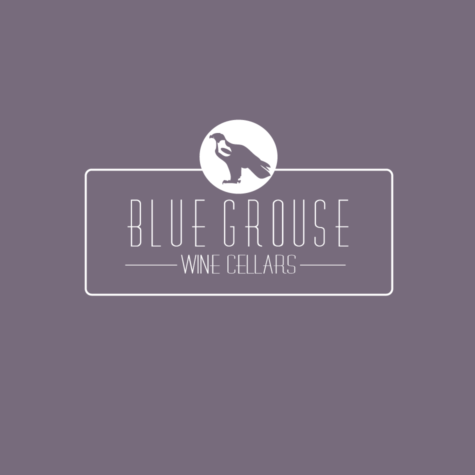 Logo Design by moonflower - Entry No. 126 in the Logo Design Contest Creative Logo Design for Blue Grouse Wine Cellars.