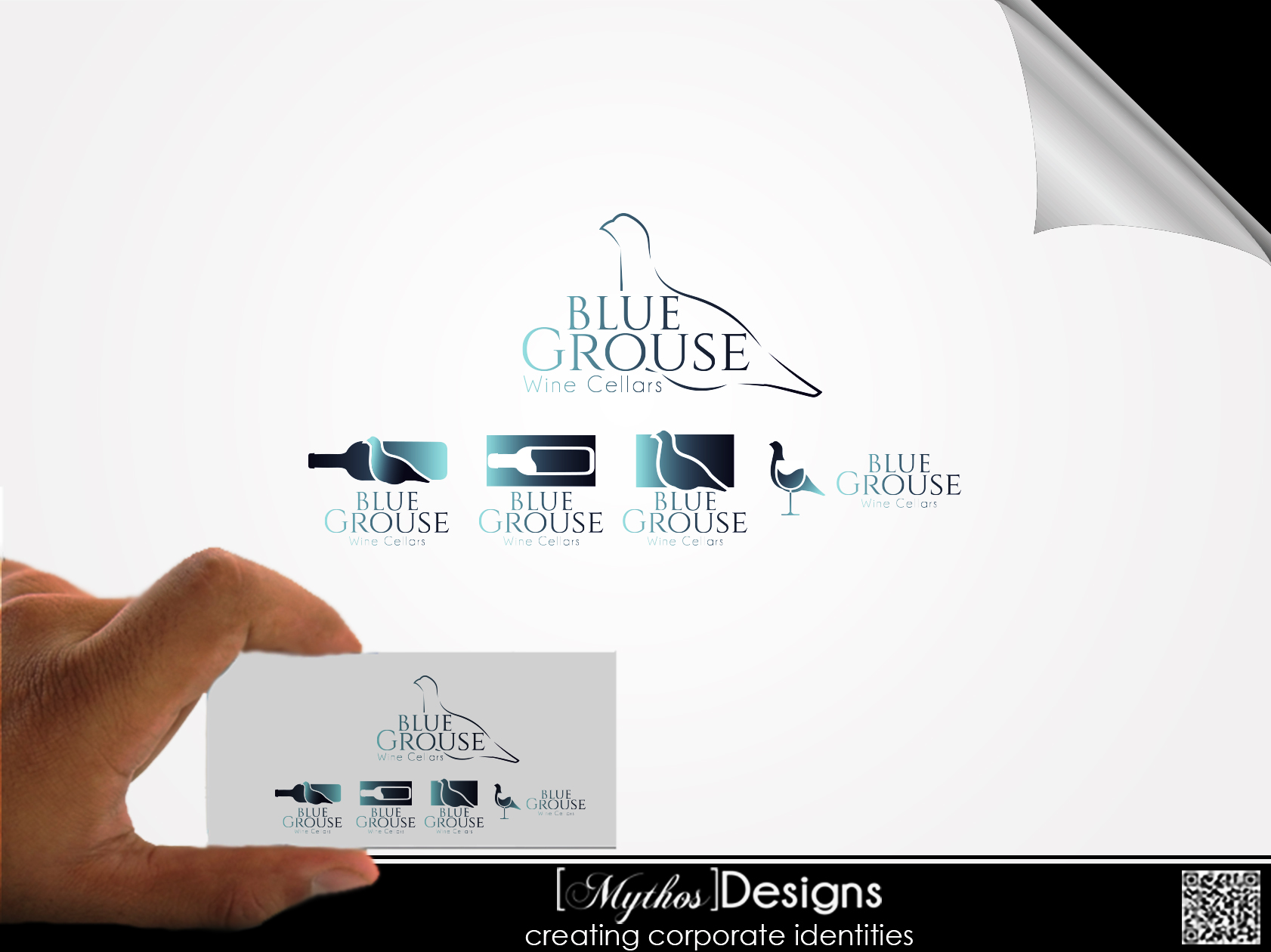 Logo Design by Mythos Designs - Entry No. 131 in the Logo Design Contest Creative Logo Design for Blue Grouse Wine Cellars.