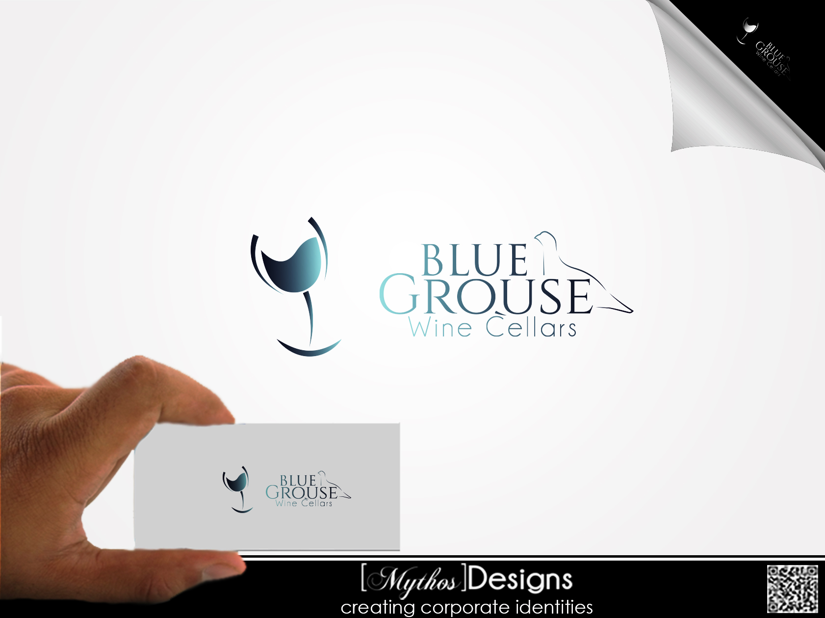 Logo Design by Mythos Designs - Entry No. 132 in the Logo Design Contest Creative Logo Design for Blue Grouse Wine Cellars.