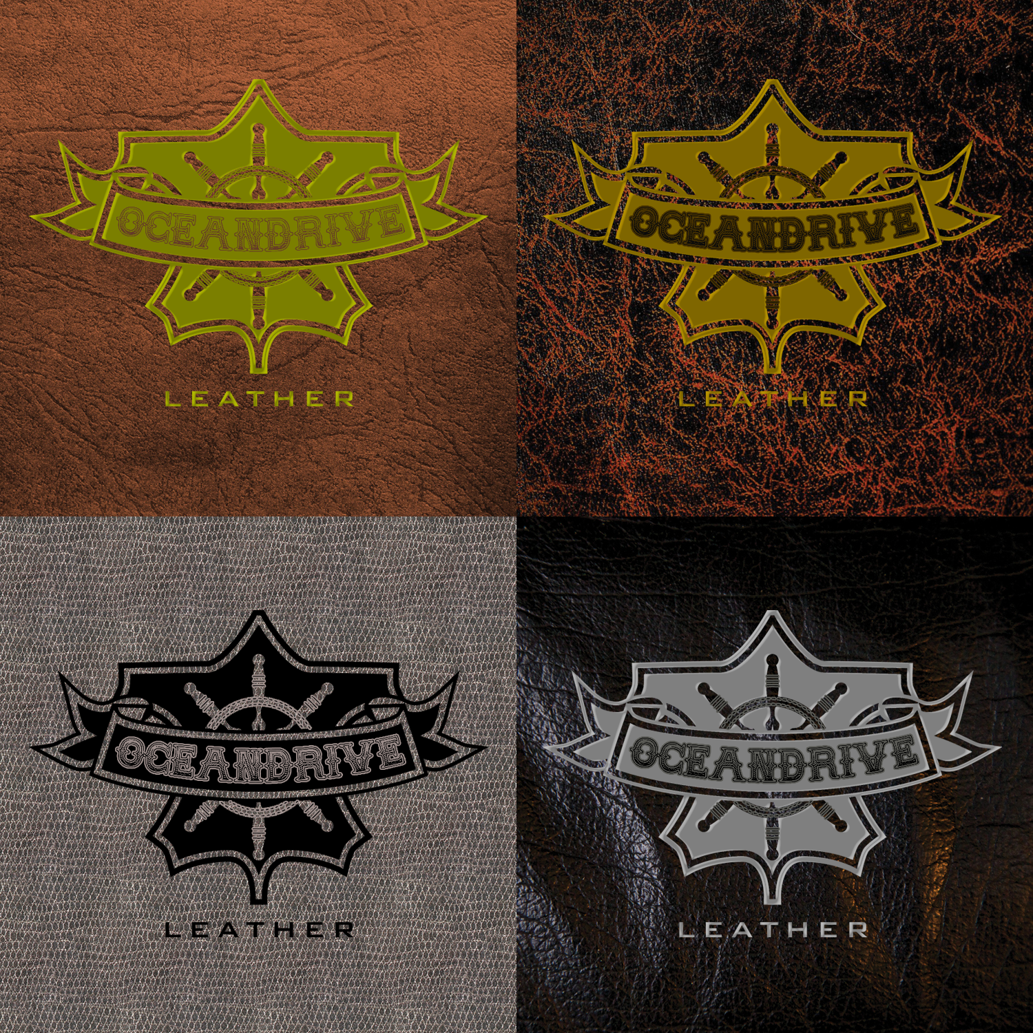 Logo Design by ISaac Law - Entry No. 45 in the Logo Design Contest Captivating Logo Design for Oceandrive Leather.