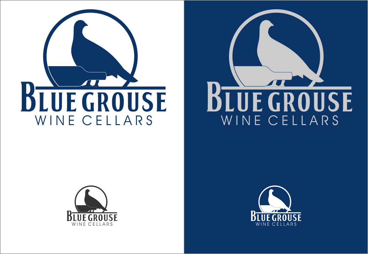 Logo Design by Ngepet_art - Entry No. 133 in the Logo Design Contest Creative Logo Design for Blue Grouse Wine Cellars.