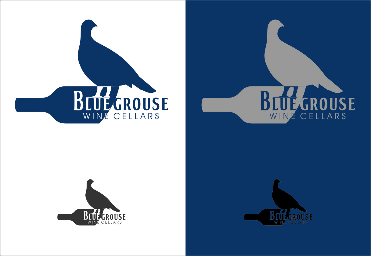 Logo Design by Ngepet_art - Entry No. 134 in the Logo Design Contest Creative Logo Design for Blue Grouse Wine Cellars.