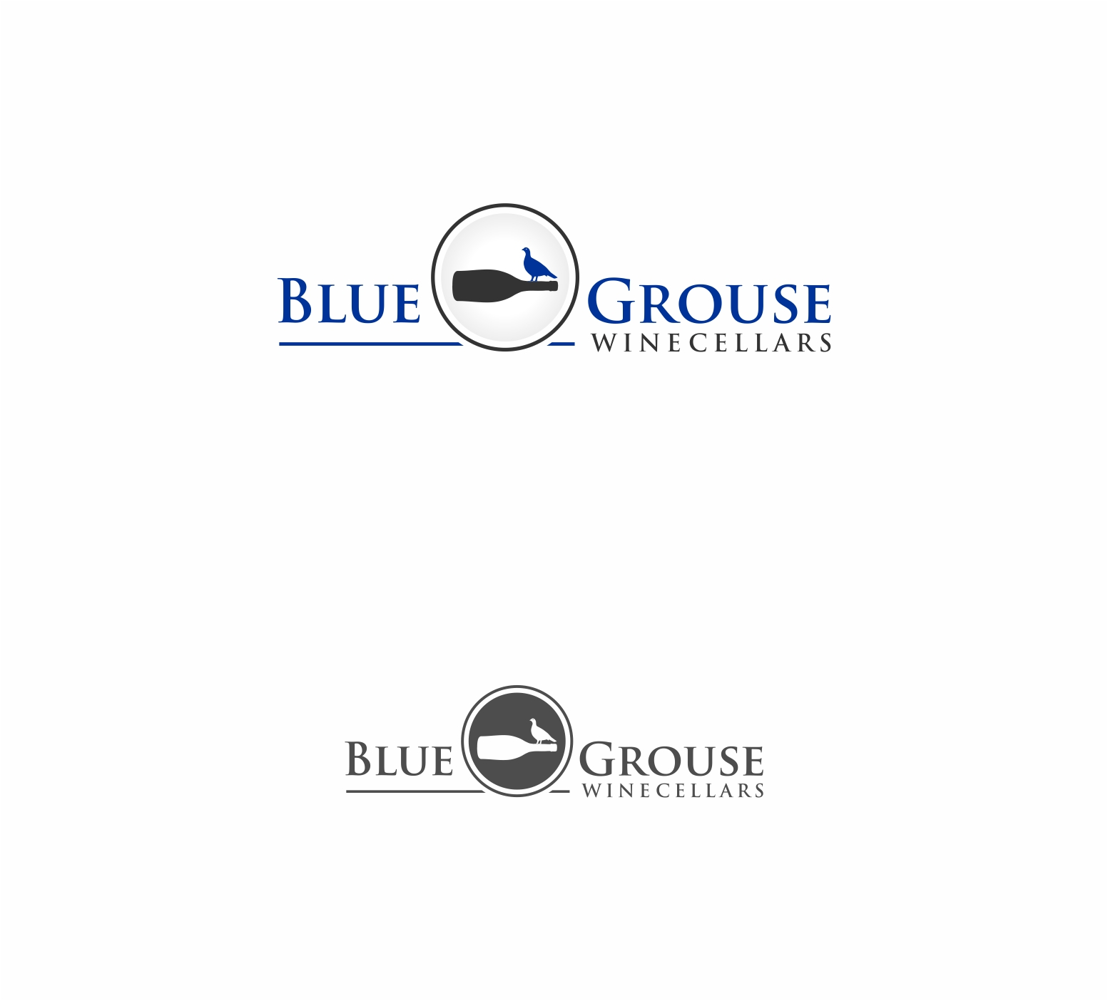 Logo Design by haidu - Entry No. 135 in the Logo Design Contest Creative Logo Design for Blue Grouse Wine Cellars.