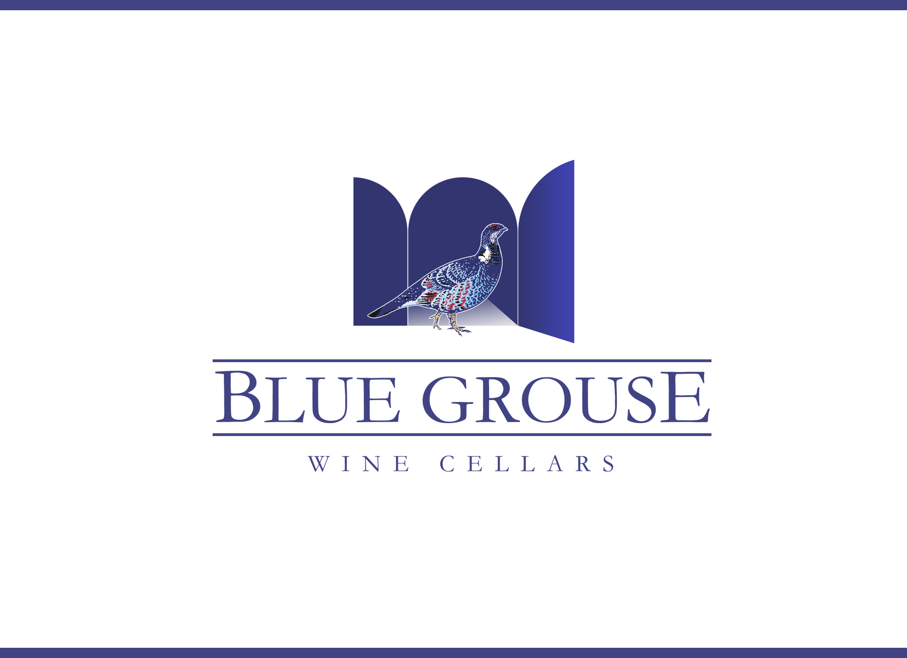 Logo Design by omARTist - Entry No. 136 in the Logo Design Contest Creative Logo Design for Blue Grouse Wine Cellars.