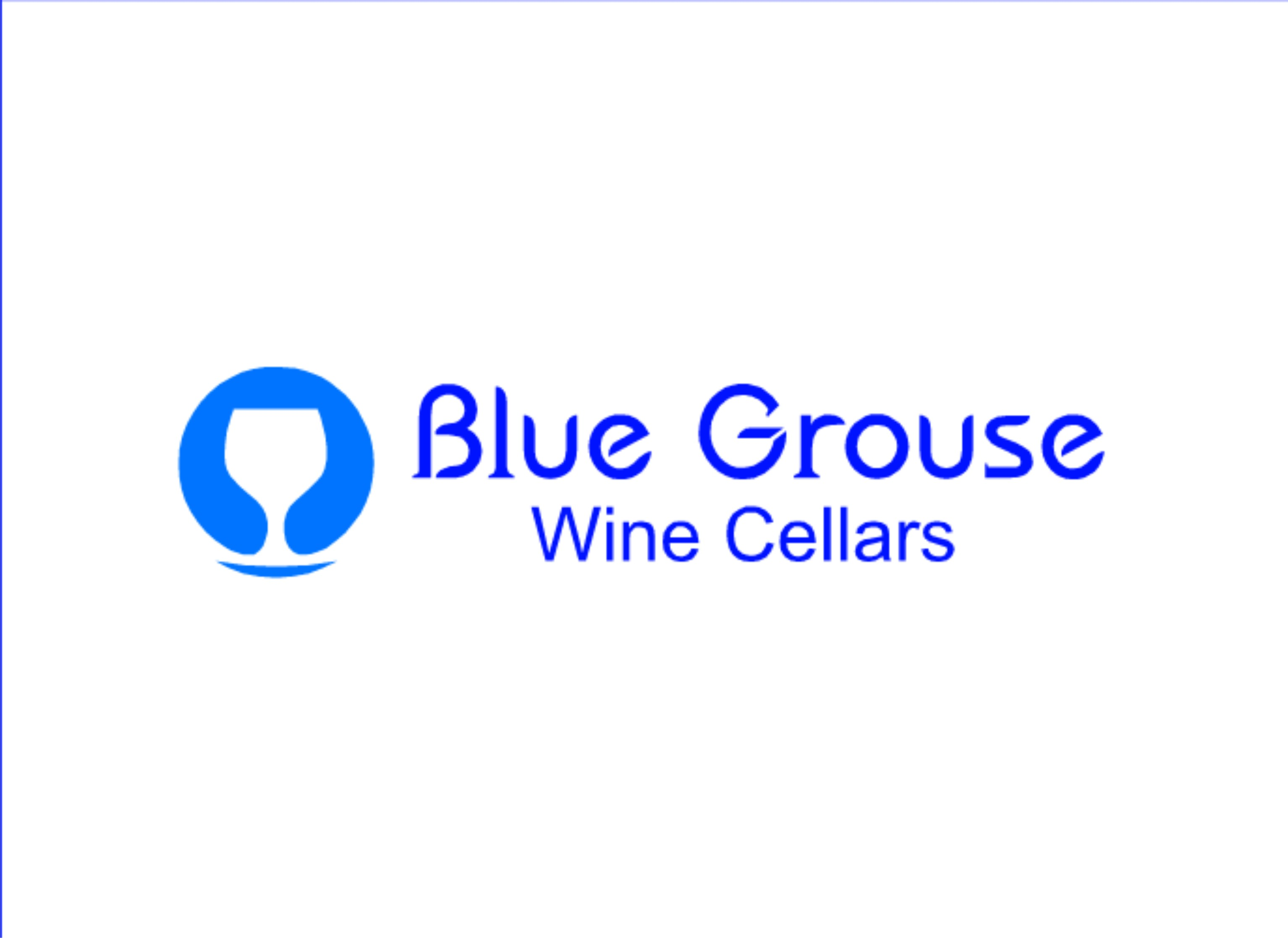 Logo Design by Shailender Kumar - Entry No. 137 in the Logo Design Contest Creative Logo Design for Blue Grouse Wine Cellars.