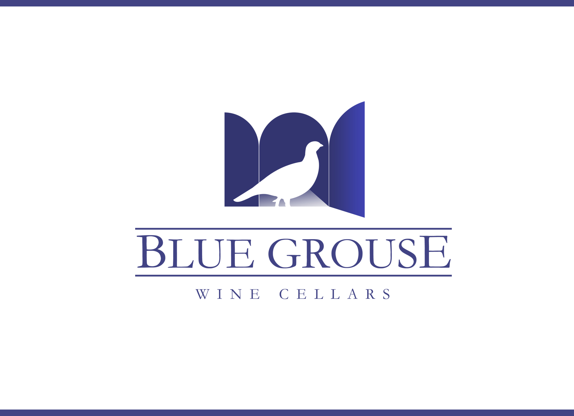 Logo Design by omARTist - Entry No. 138 in the Logo Design Contest Creative Logo Design for Blue Grouse Wine Cellars.