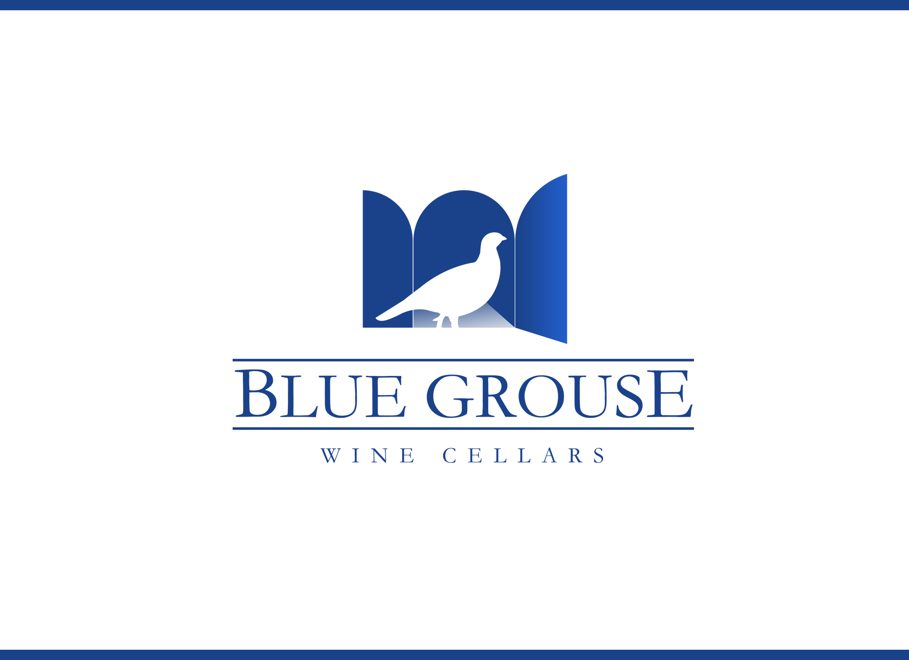 Logo Design by omARTist - Entry No. 139 in the Logo Design Contest Creative Logo Design for Blue Grouse Wine Cellars.