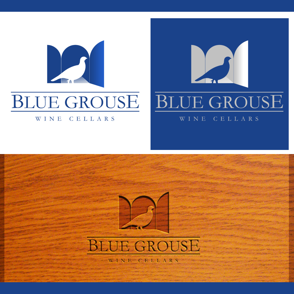 Logo Design by omARTist - Entry No. 140 in the Logo Design Contest Creative Logo Design for Blue Grouse Wine Cellars.
