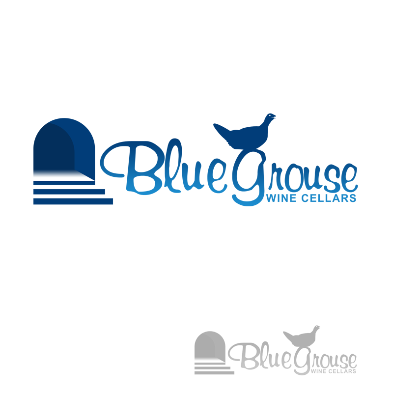 Logo Design by Robert Turla - Entry No. 141 in the Logo Design Contest Creative Logo Design for Blue Grouse Wine Cellars.