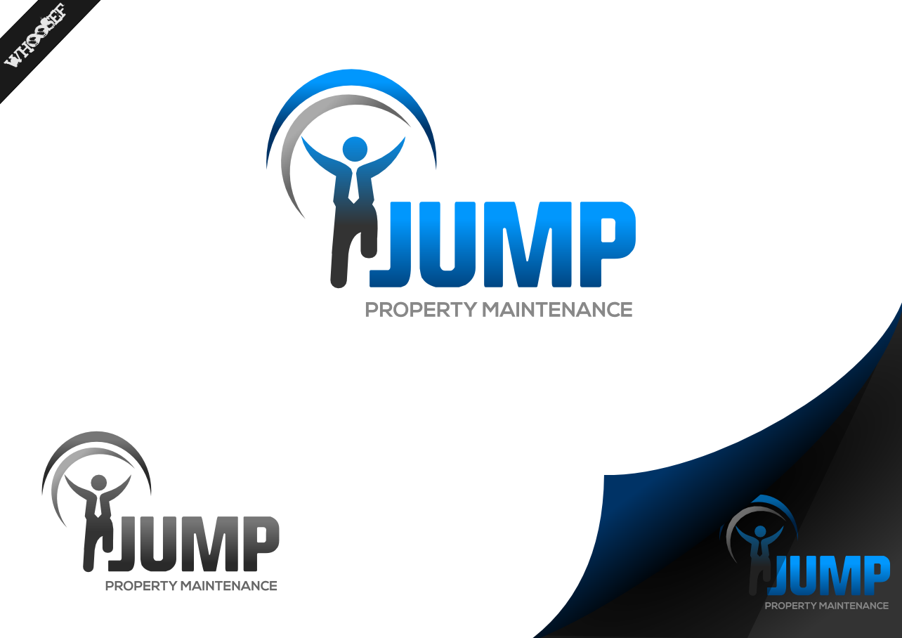 Logo Design by whoosef - Entry No. 8 in the Logo Design Contest Creative Logo Design for Jump Property Maintenance.